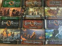 Lord of the Rings core set + lots of boxed expansions