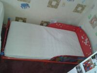 Cars cot bed and mattress