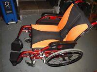 Light weight folding wheelchair