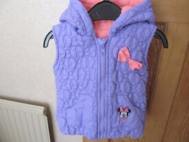 Minnie Mouse lilac hooded body warmer – size 12-18 months