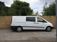 Mercedes Vito bonded side windows