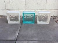 Glass blocks for sale.
