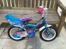 Girls Blue and Pink First bike by Apollo. In very good condition.