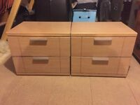 2 x Bedside tables in good condition, ready for pick up or can be deliverd locally