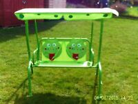 TODDLER TWIN SWING AND CANOPY