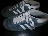 Grey suede adidas trainers size 6