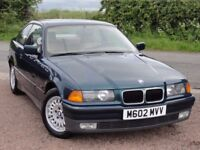 BMW E36 320i Coupe, Manual, M Reg, *** Left Hand Drive ***, 88k Miles, Boston Green, 1 Owner
