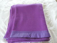 A Purple Vintage 100% Pure Wool Whitney Blanket