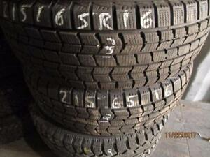 215/65R16 2 ONLY DUNLOP WINTER TIRES