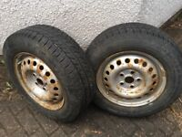 VW Transporter T4 Tyres and Wheels Continental Vanco Winter 195/70/R15C Loads of Tread depth
