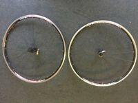 2 x Shimano road r500 road wheels for sale.