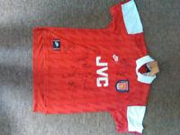 Signed Arsenal JVC shirt from 95/96 season