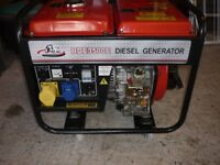 Diesel Generator 3.5kva 240v - 115v - 12v - Electric Start - Perfect Condition