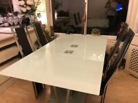 Contemporary Dining Table & 4 Chairs. Italian design. Excellent condition