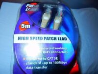 Patch Cable Ethernet Network Lead Rj45 Lan High Speed Cat5e Wire
