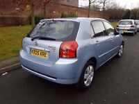 05 TOYOTA COROLLA 2.0 D4D DIESEL 5 DOOR - PX WELCOME ( p/x part exchange swap considered)