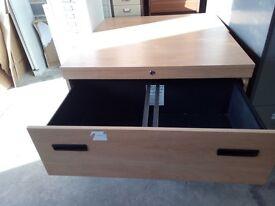 950x520x720mm Low beech side filing unit with keys.£95.00