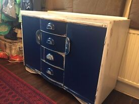 Shabby-chic dresser drawers and cupboard
