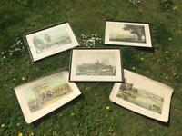 COLLECTION OF 5 VINTAGE LONDON THEMED PRINTS, 3 FRAMED NEED TLC