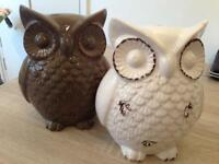Owl sculptures for home decor