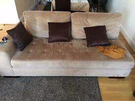 PRICE REDUCED FROM 299 £ ITALIAN SOFA TEPE HOME WITH BOOK SHELF