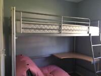 Single study bunk bed for sale £90