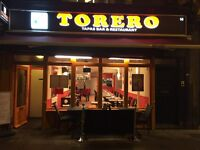 Torero tapas bar and restaurant £13.000 year rent