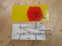 Ikea Gyllen 56 Glass Panel Red Poppy 56x25.4 cm glass incl fixes & eco bulbs *PRICE REDUCED*