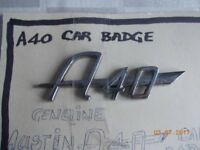 Vintage Austin A40 Car Badge