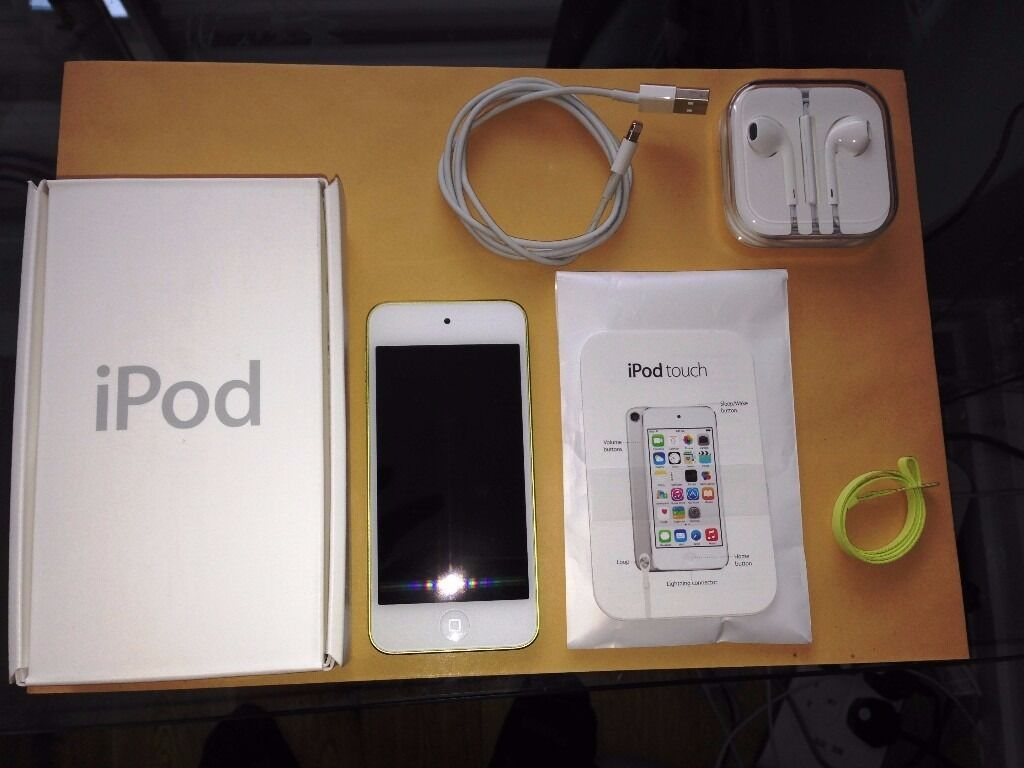 ipod touch 64 gb 5th generation like new in yellow. Black Bedroom Furniture Sets. Home Design Ideas