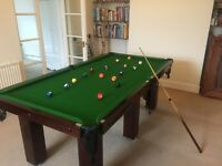 "7' x 3'6"" Square Leg Opal Slate Pool Table For Sale"