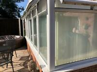 Conservatory windows french doors plastic roof