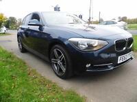 BMW 1 SERIES 116d Sport 5dr Step Auto (blue) 2013