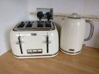 Breville cream 4 slice toaster & cream kettle set