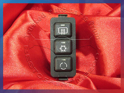 BMW E36 3'es SWITCH UNIT HEATED REAR WINDOW AIRFLOW AIR CONDITIONING CIRCULATING