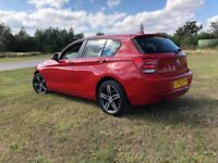 2013 BMW 1 Series 114d Sport, low mileage, full service history, 12 months M.O.T, 2 keys