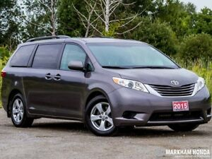 2015 Toyota Sienna LE 8 Pass V6 6A - ACCIDENT FREE|BACKUP CAM|7S
