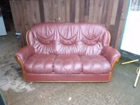 Leather 3 Seat Sofa Delivery Available