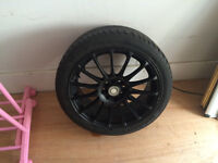 Black Multi Spoke Sport Alloy Wheels And Tyres To Suit citroen DS3 With 4 Brand New Tyres