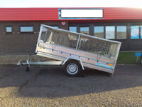 CAGE TRAILER/ SINGLE AXLE BRAND NEW TRAILER 8,6 FT X 4,4 FT - 750KG + FLAT COVER