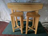 Kitchen Island Table & Two Stools