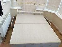 King size divan bed - base and headboard only