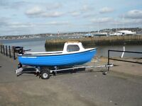 FAMILY FISHERMAN PACKAGE WITH TOHATSU 3.5 HP AND TRAILER - FULL WARRANTY UK WIDE DELIVERY