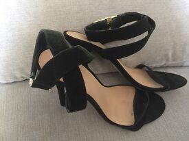 ASOS black strappy heels. Size 6