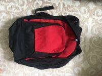 Red & Black Backpack/Bag