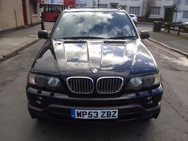 BMW X5 4.6is SUV , V8, LPG , CHEAP TO RUN, automatic , black leather interior, very low mileage ,