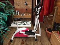 Cross trainer and exercise bike in one