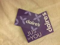 Claire's Accessories £10 gift card