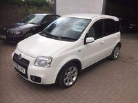 2008 Fiat Panda 100Hp WHITE, sporty little hatchback Mot Nov FULL HISTORY inc t/belt VERY COOL CAR!!
