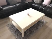 Large white Ikea coffee table